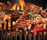 Enjoy the delicious barbecue buffet at Golden Palace Casino Hornu