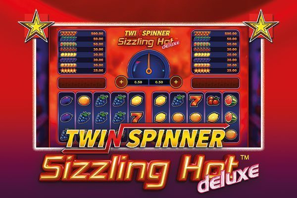 Twin Spinner Sizzling Hot Deluxe: 1 game, 2 slots!