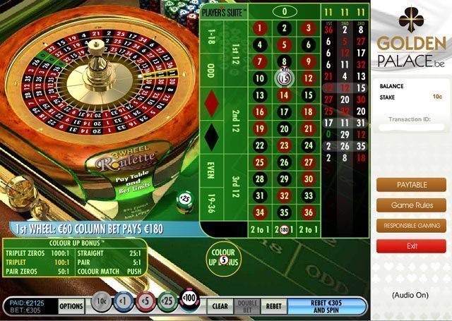 golden palace online casino european roulette