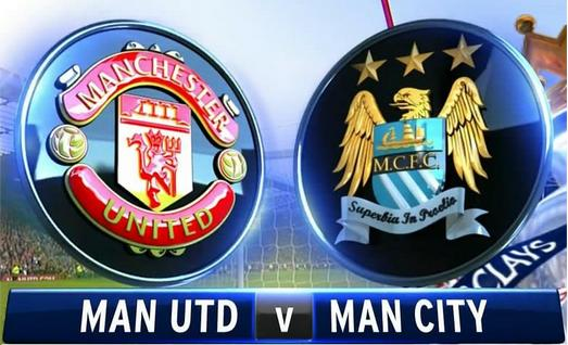 The derby between Manchester United and Manchester City is